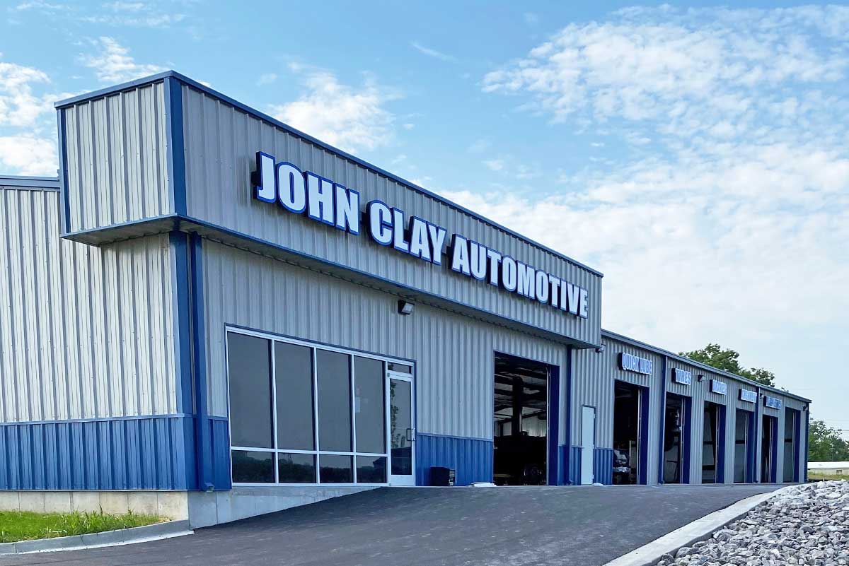 This 9,000-square-foot building is a clear span structure with seven service bays and a customer service area.